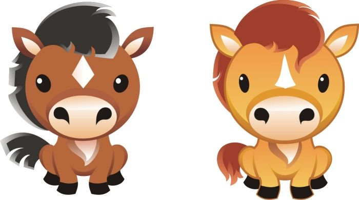Free Horse Vector Graphics 9 Cartoon Horse Graphic Set Off To