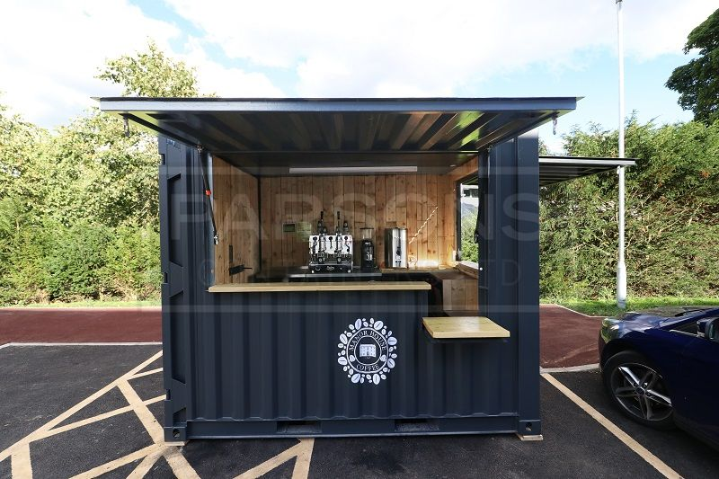 A New 10ft Shipping Container Converted Into A Mobile Coffee Shop Di 2020 Kedai Kopi Desain