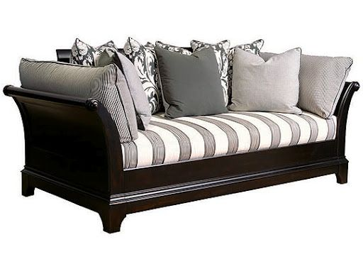 digging the stripes not digging the sleigh bed thing but this is pretty gender neutral