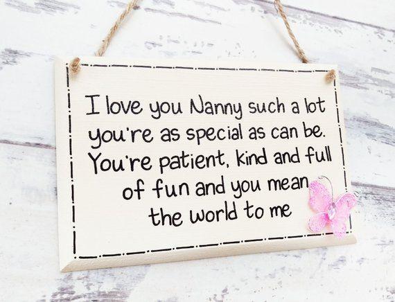 Mothers Day Gift Gifts For Nana Nan Birthday Nanny Grandma Sign PRODUCT INFO This