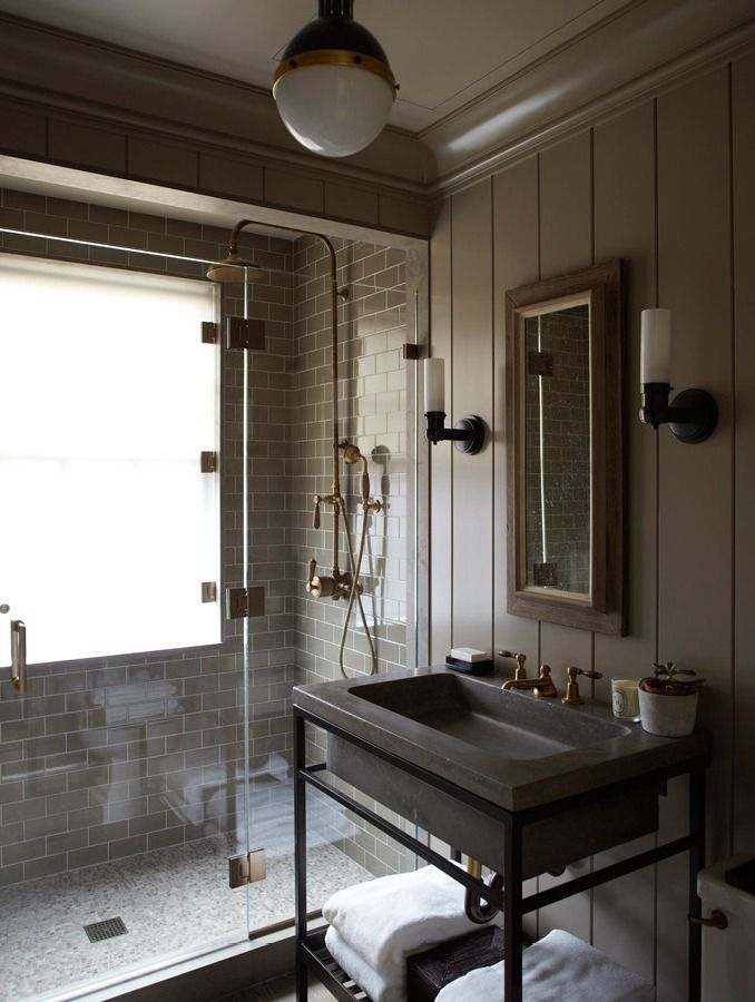 Industrial Design Bathroom Captivating Steven Gambrelthis Is Dark And Masculine But I Kinda Like It I Design Ideas