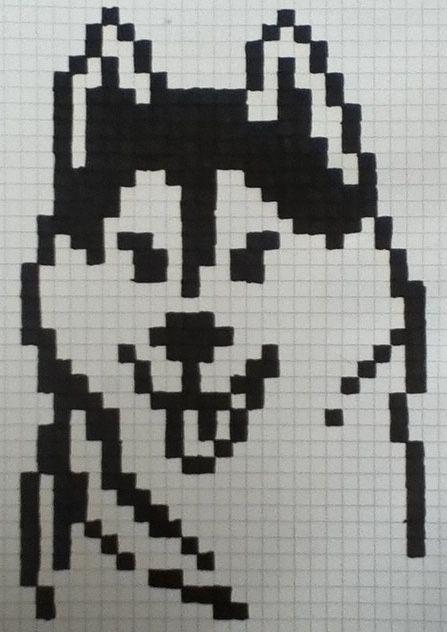 Pin von nina uhrig auf zeichnug   Pinterest   Pixel Art, Wolf und ...