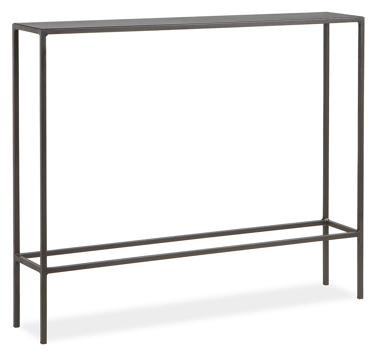 Slim console tables in natural steel weights slim console table a room board classic the slim console table collection offers a balance of grace geotapseo Image collections