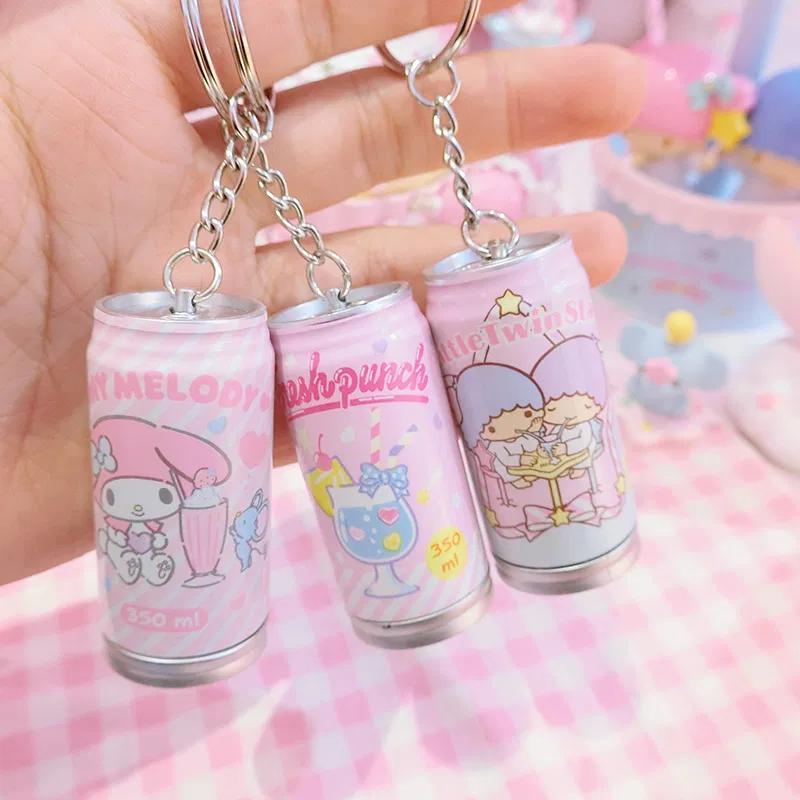 100 pcs Hello Kitty Keyring Pink White Hello kitty Cat Sanrio Kawaii Cute Gift