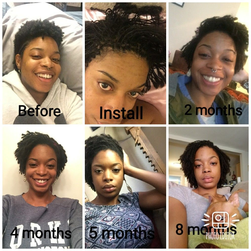 A side by side comparison of where I began to where I am now in my sisterlocks journey. Patience is key! I'm working on it!