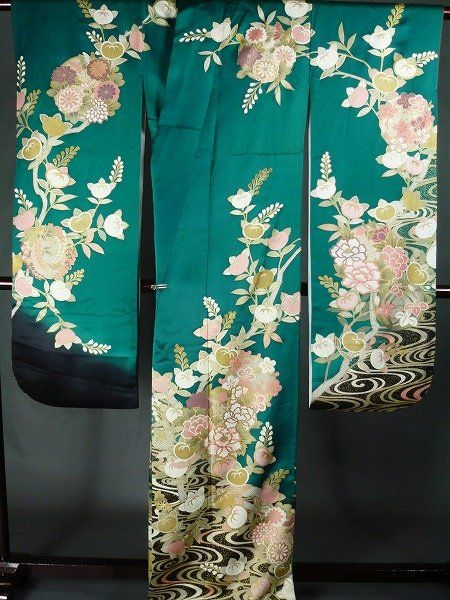 traditional peacock kimino wedding embroidered designs - Google Search