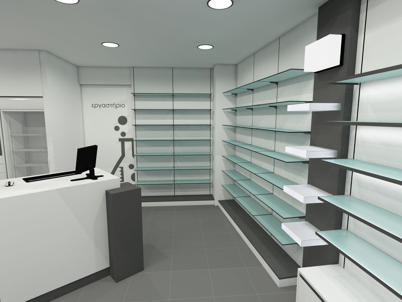 greece pharmacy design | retail design | store design
