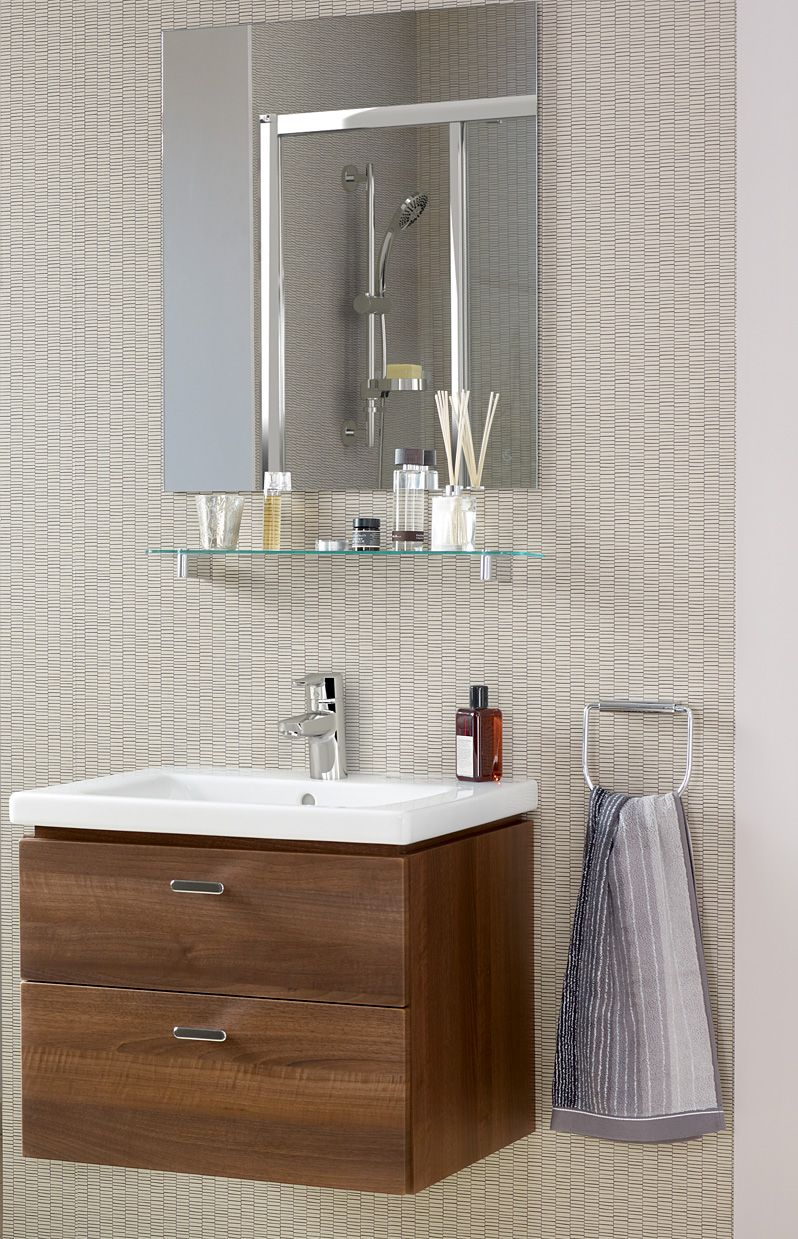 Ideal Standard Concept Cube Wall Hung Vanity Unit Walnut