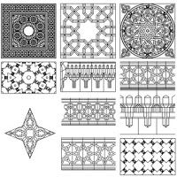 زخارف اسلامية بصيغة الاتوكاد Dwg برابط مباشر Clip Art Borders Wrought Iron Design Islamic Art