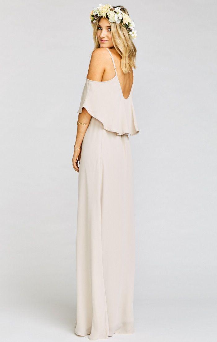 9abb0aaddd643 Caitlin Ruffle Maxi Dress ~ Show Me the Ring Crisp | Show Me Your MuMu