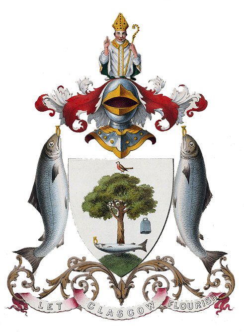 Find Coat Of Arms SALMON   The coat of arms of the City of Glasgow