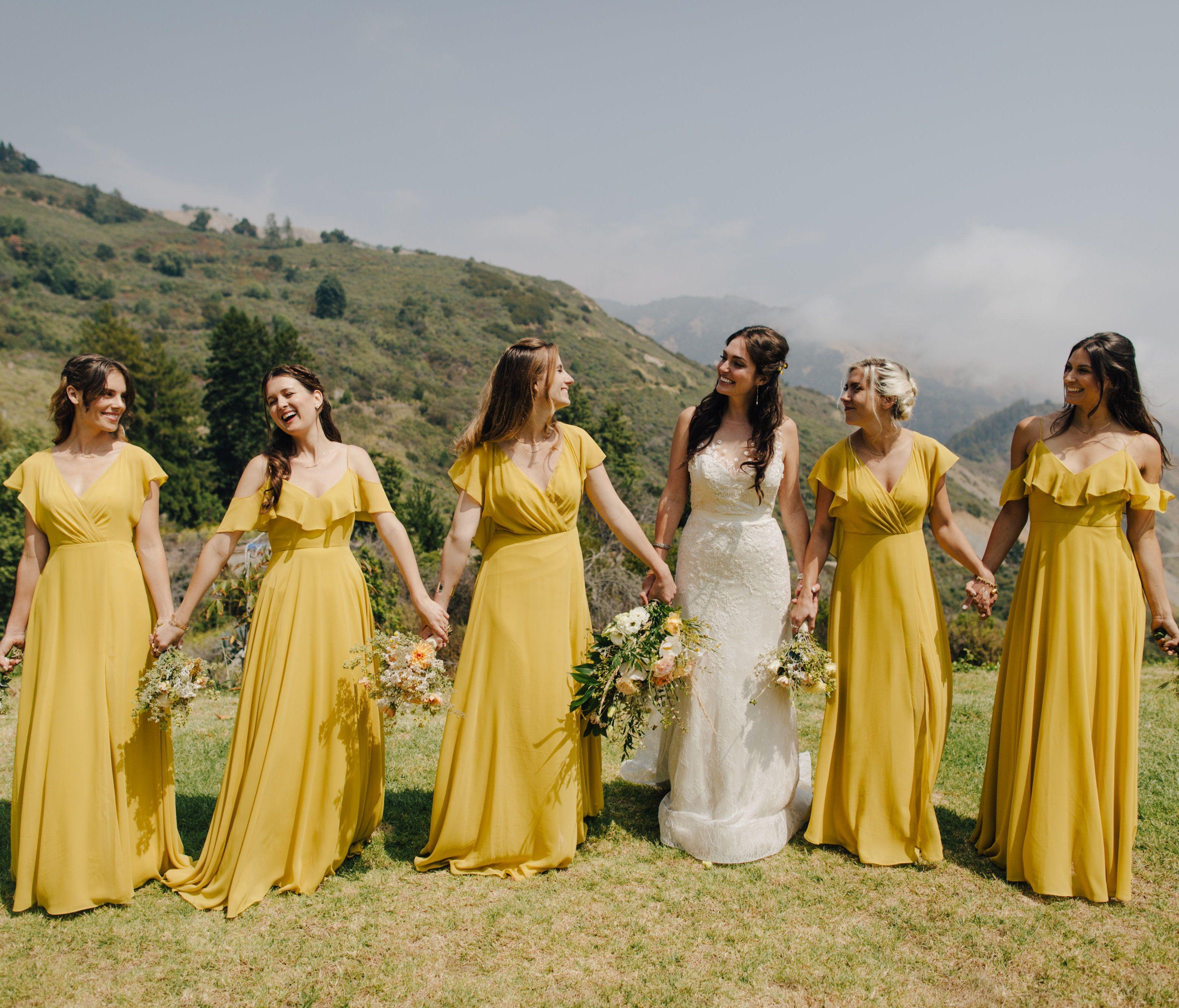 Jenny Yoo Collection 2018 Bridesmaids Featuring Romantic Long Luxe Chiffon Mismat Bridesmaid Dresses Boho Yellow Bridesmaid Dresses Jenny Yoo Bridesmaid Dress [ 2667 x 3118 Pixel ]