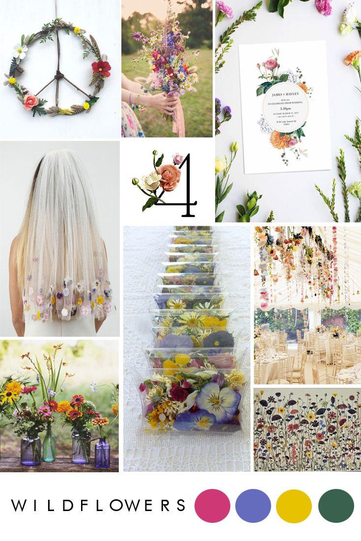 wildflower wedding inspiration | spring wedding flowers