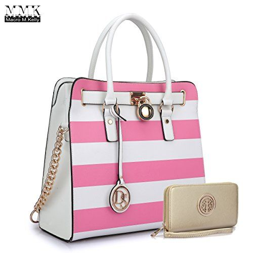 fe2167b933 MMK collection Women Fashion Pad-lock Satchel handbags with  wallet(2553)~Designer Purse for Women ~Multi Pocket ~ Beautiful Designer Handbag  Set ...