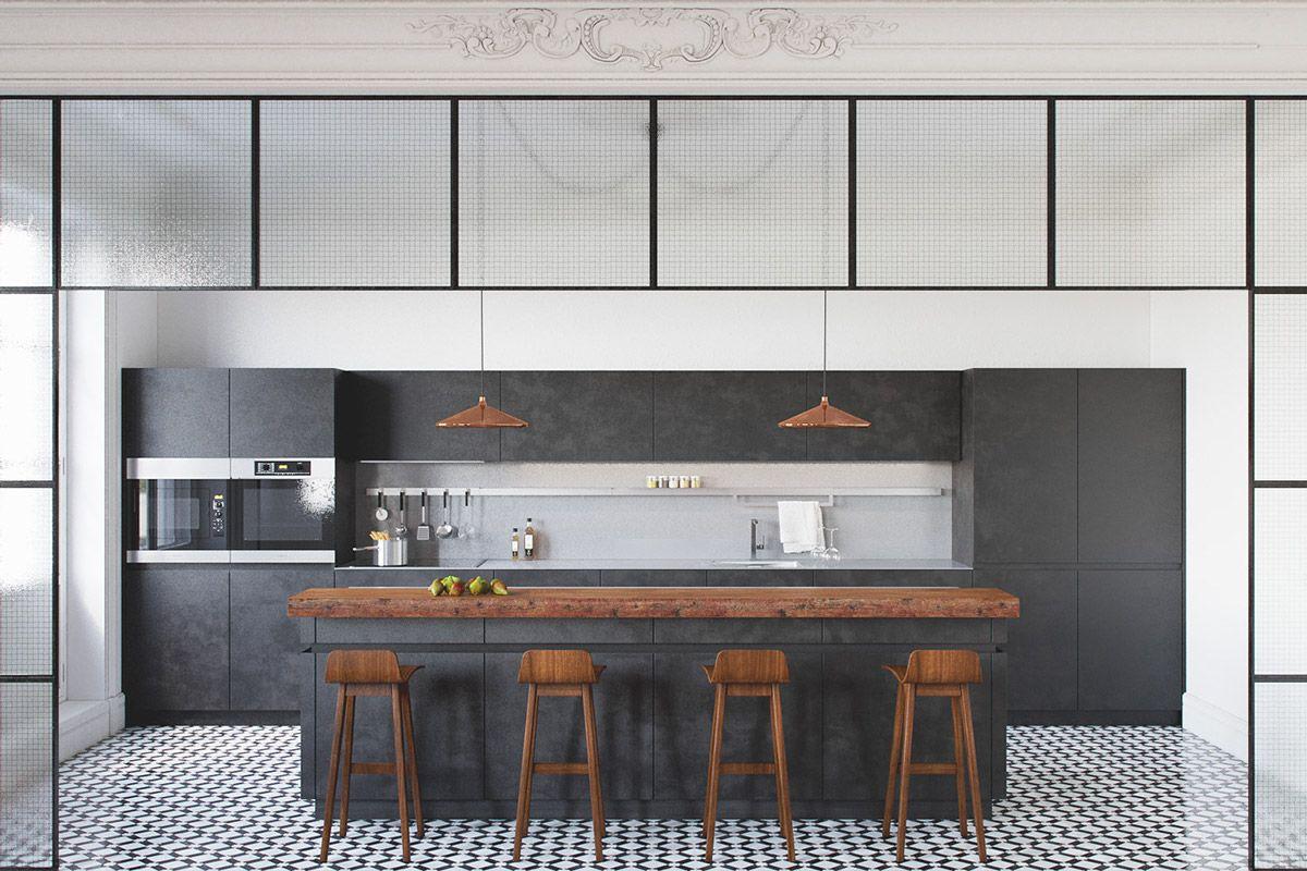 Black White Wood Kitchens Ideas Inspiration Kitchen Flooring White Wood Kitchens White Kitchen Design