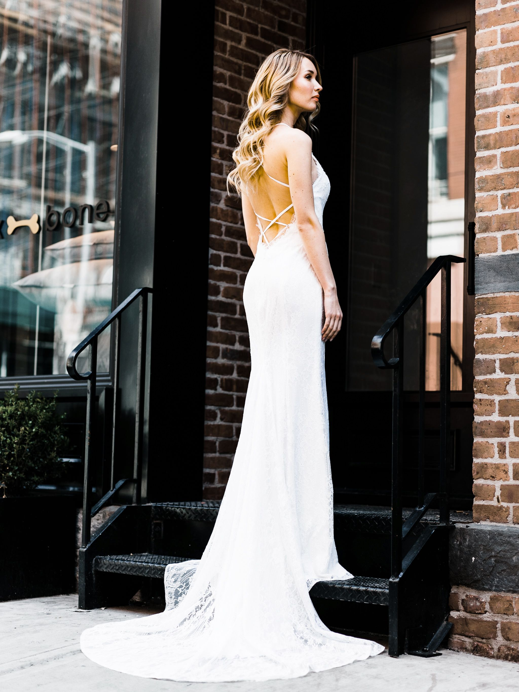 Angelina lace up bridal gown by goddess by nature wedding dresses