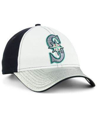 New Era Women s Seattle Mariners Shimmer Shine 9TWENTY Cap - White  Adjustable 1ece3583d8