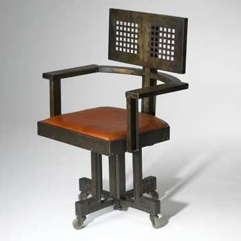 Frank lloyd wright revolving chair for the larkin for Armchair builder