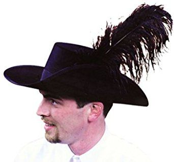 0459108ff3b25 Men s Black Captain Hector Barbossa Pirate Hat  piratesofthecarribbean