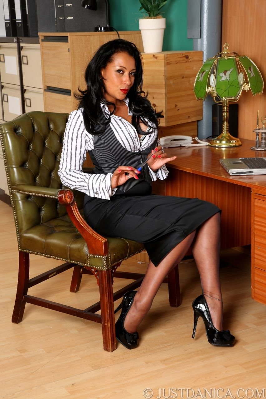 Secretary Fishnets Dildo