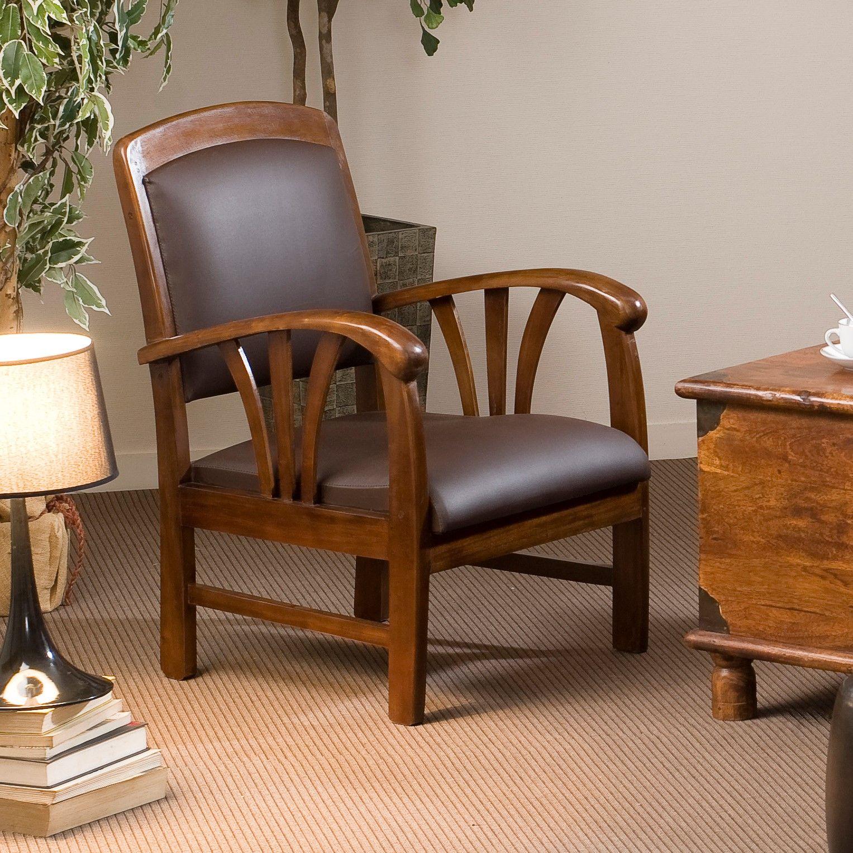 fauteuil colonial bois d acajou dika