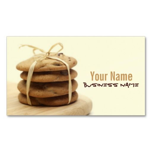 Chocolate chip cookies business cards chocolate business cards chocolate chip cookies business cards colourmoves