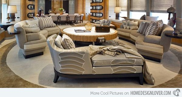 15 Curved Modular And Sectional Sofa Designs