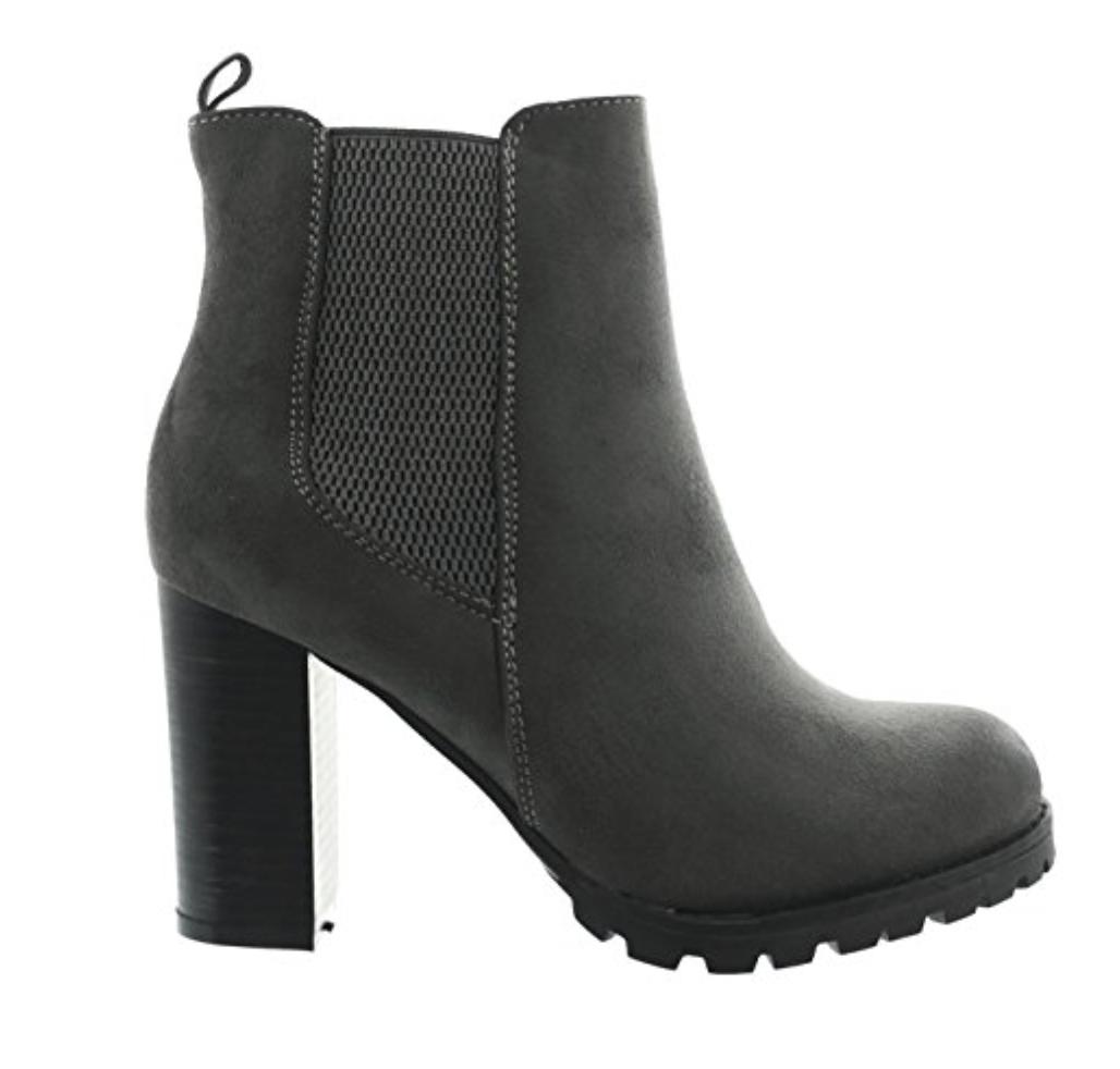Stiefeletten Schuhe Damen High Heels Stiletto Stiefel Boots wabg Braun 40