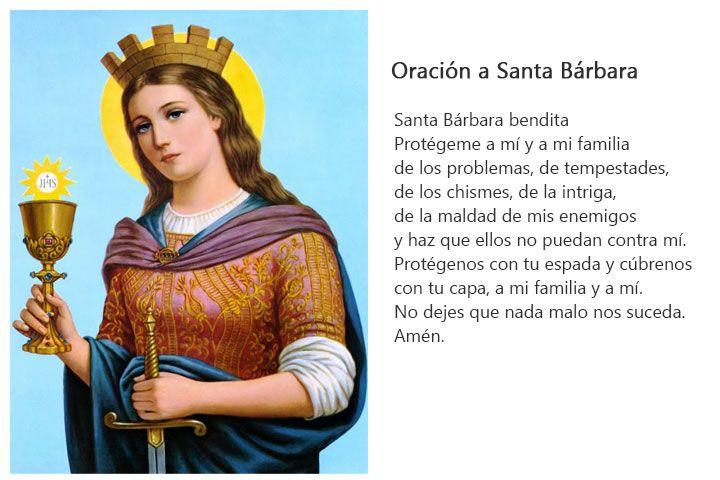 Santa Bárbara Su Historia Imágenes Y Oraciones Santa Bárbara Oraciones Santa Barbara Bendita