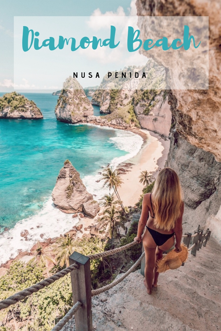 Everything You Need To Know About Diamond Beach On Nusa Penida - Campsbay Girl #nusapenida #bali #indonesia #travelgoals #instagram #diamondbeach