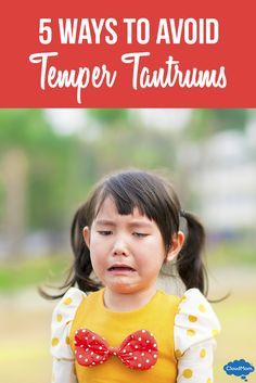 Tantrums in toddlers are preventable. 5 tips for avoiding temper tantrums with your toddler both at home and in public! Helpful advice for parents!