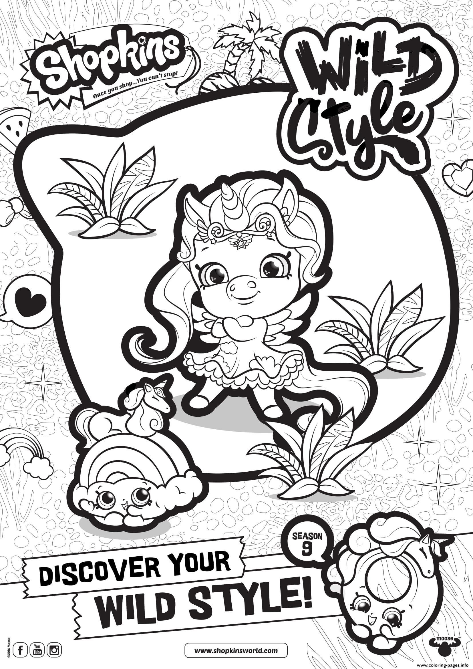 Print Shopkins Season 9 Wild Style 1 Coloring Pages Shopkins