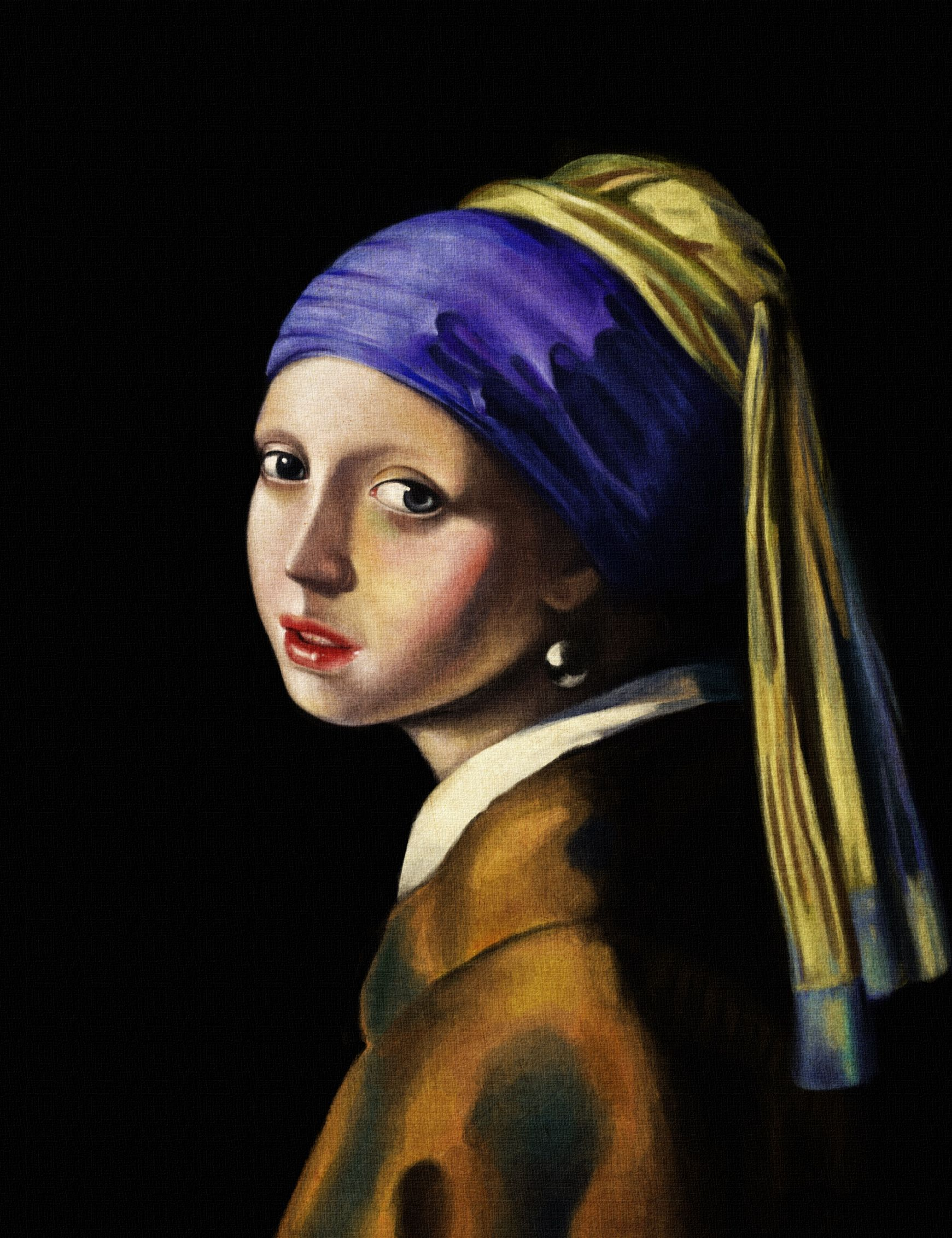 Girl with the pearl earring copy of Vermeer Most