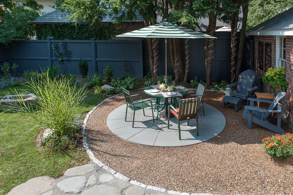 Sustainable Water Permeable Patio (Opposite View) The Cobble Ringed Patio  Is Bonded Gravel
