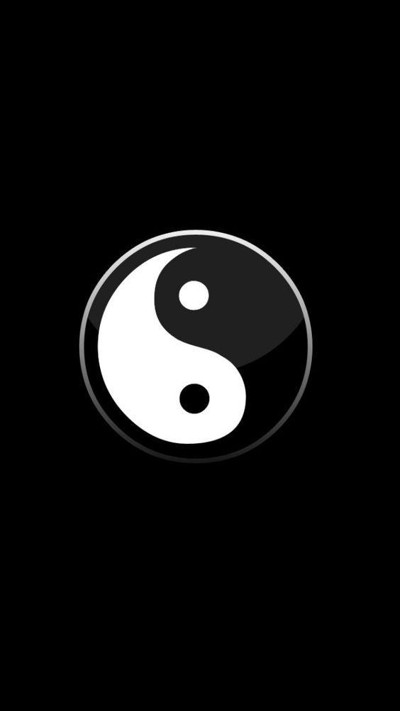 Black White Yin Yang Seni Wallpaper Ponsel Ponsel
