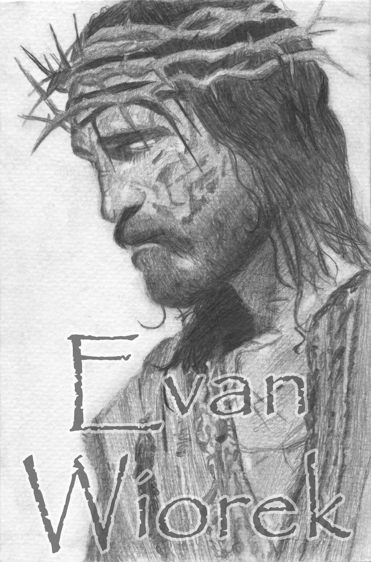The passion pencil drawing of jesus christ