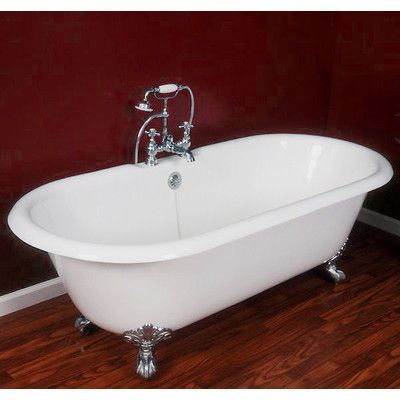 Cambridge Plumbing 67 25 X 22 25 Double Ended Claw Foot Bathtub Leg Finish Polished Chrome Faucet Mount Yes Tub Bathtub Clawfoot Bathtub
