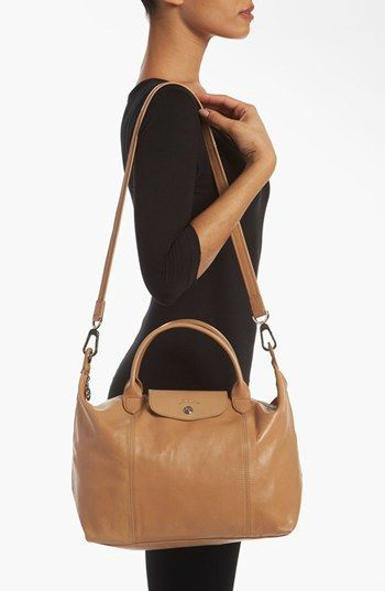 71da7bc12c83 Longchamp  Le Pliage Cuir  Leather Handbag
