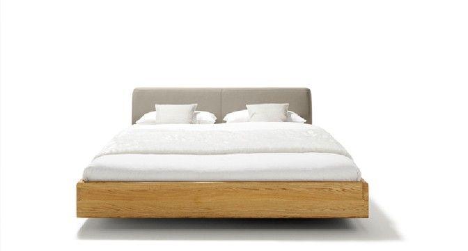nox Bett mit starken, gerundeten Naturholz-Bettseiten TEAM 7
