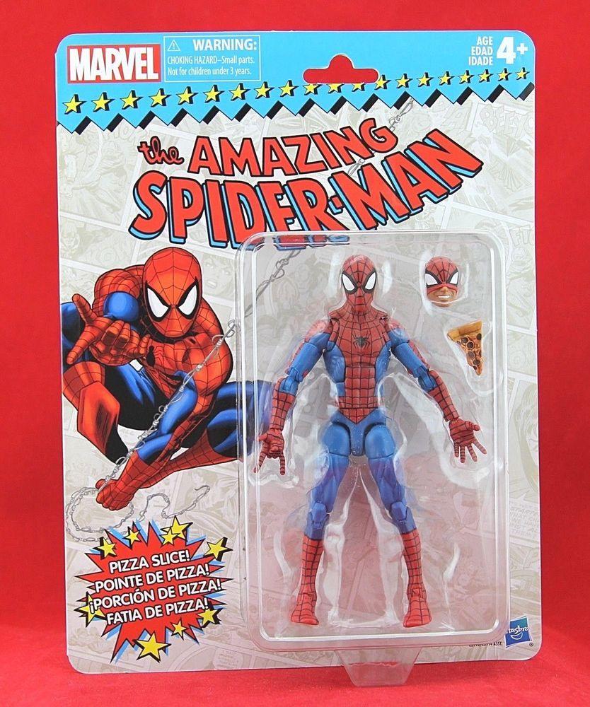 "Marvel Legends Vintage Retro Pizza Spider-Man 6/"" Hasbro NEW"