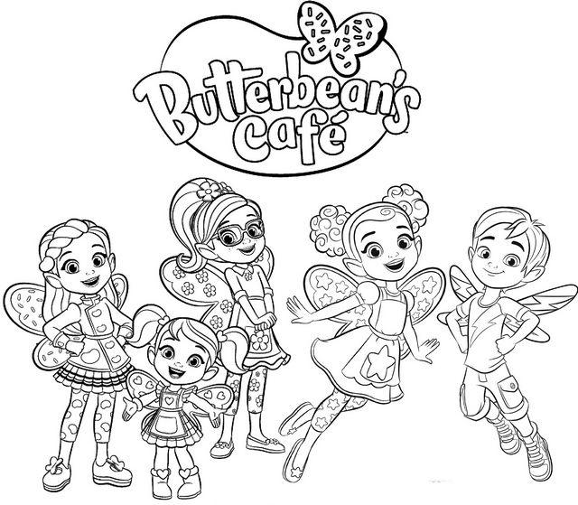 Butterbeans Cafe Logo Livro De Colorir Desenhos Para Colorir