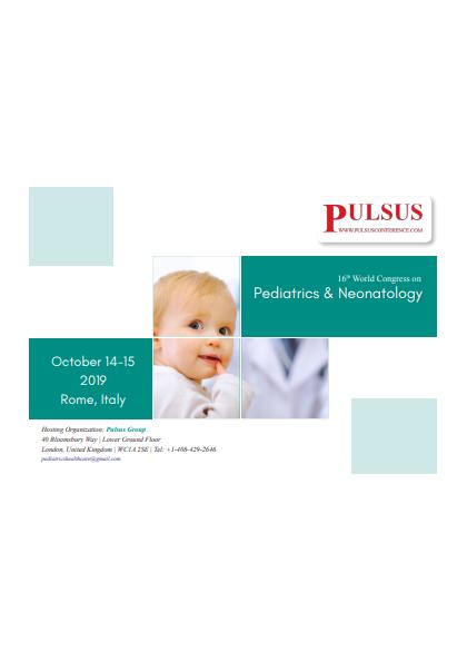 16th World Pediatrics & Neonatology Congress | International