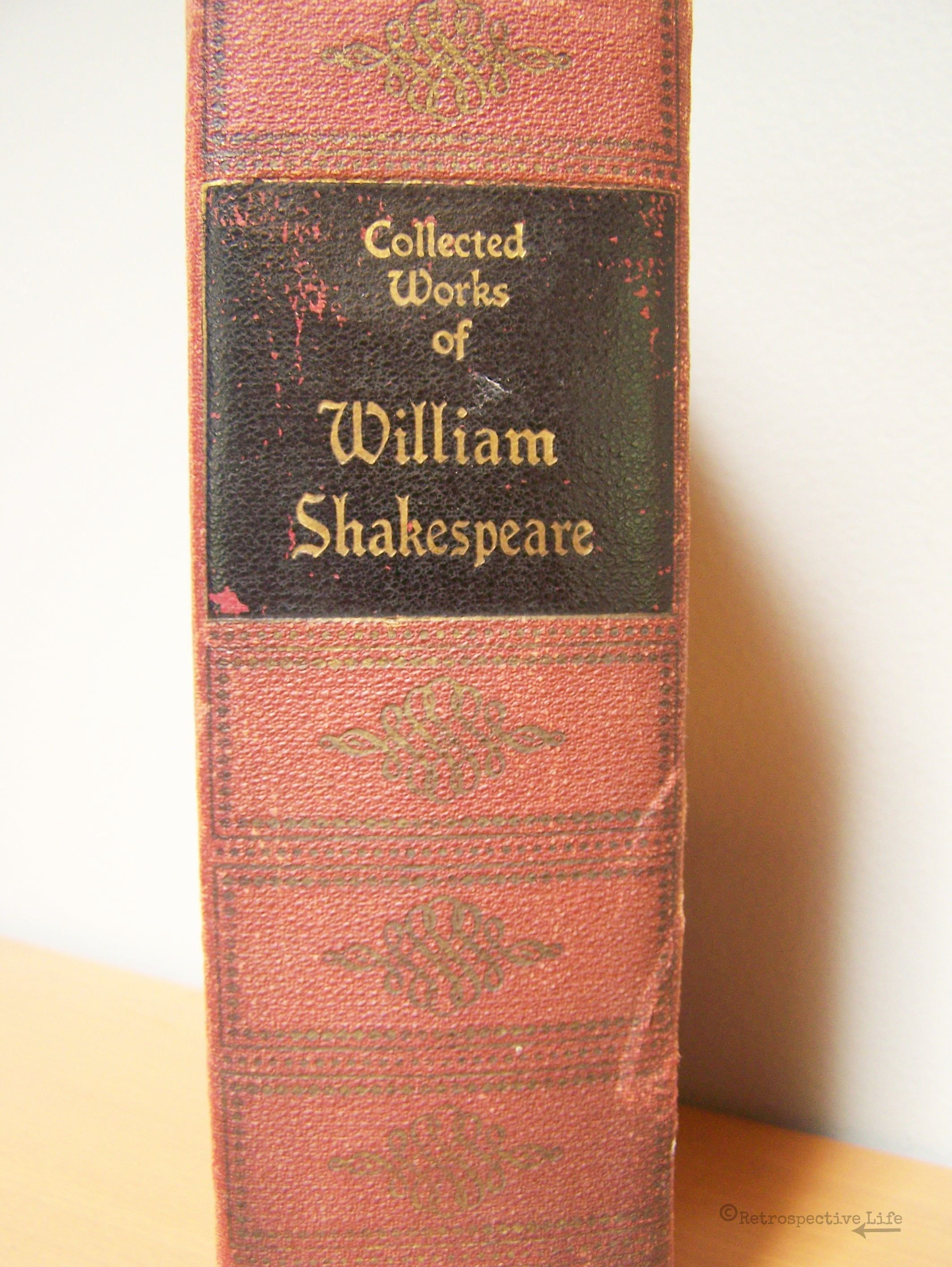 Antique Book 1937 Hardcover Edition Collected Works Of William Shakespeare Complete Works Of William Shakespeare Antique Books Vintage Books Hardcover Book