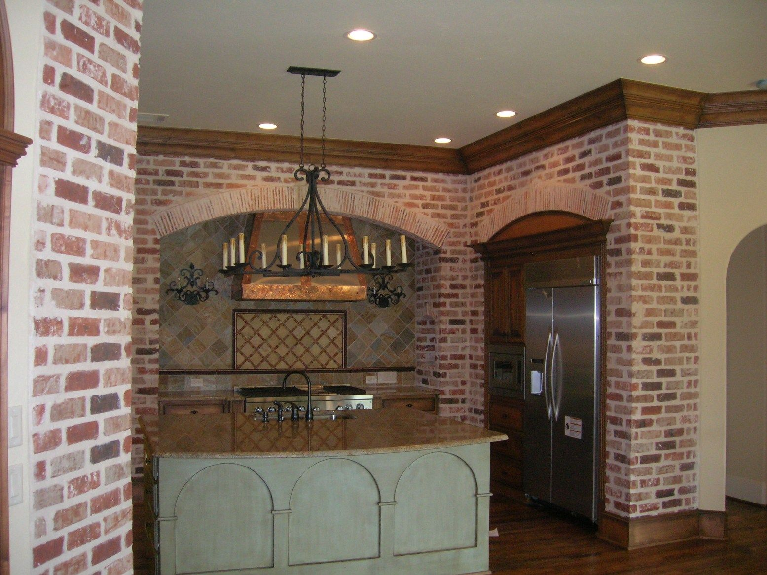 Brick kitchen google search for the home pinterest for Kitchen bricks design