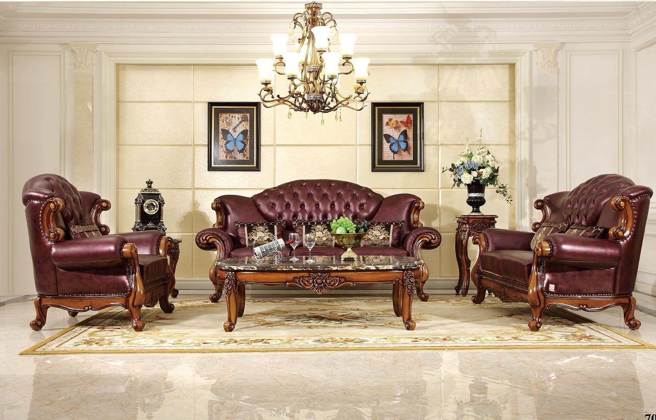 Ma Xiaoying Genuine Leather Traditional Collection Living Room Furniture Set Sofa Loveseat And Cha Furniture Living Room Sofa Set Living Room Sets Furniture