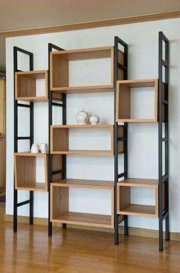 Pin de cesar salazar en libreros y mas pinterest for Diseno de muebles de hierro