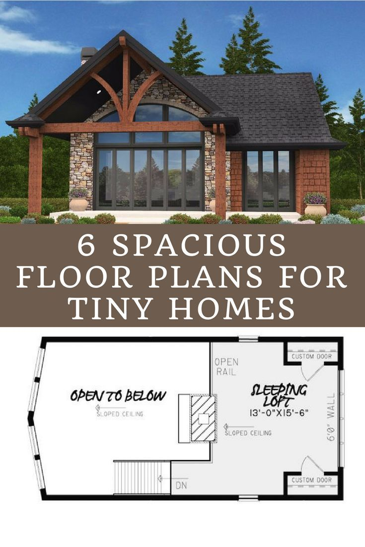 6 Floor Plans For Tiny Homes That Feel Surprisingly Spacious I M Partial To 4 What About Yo Tiny House Floor Plans Building A Small House Little House Plans
