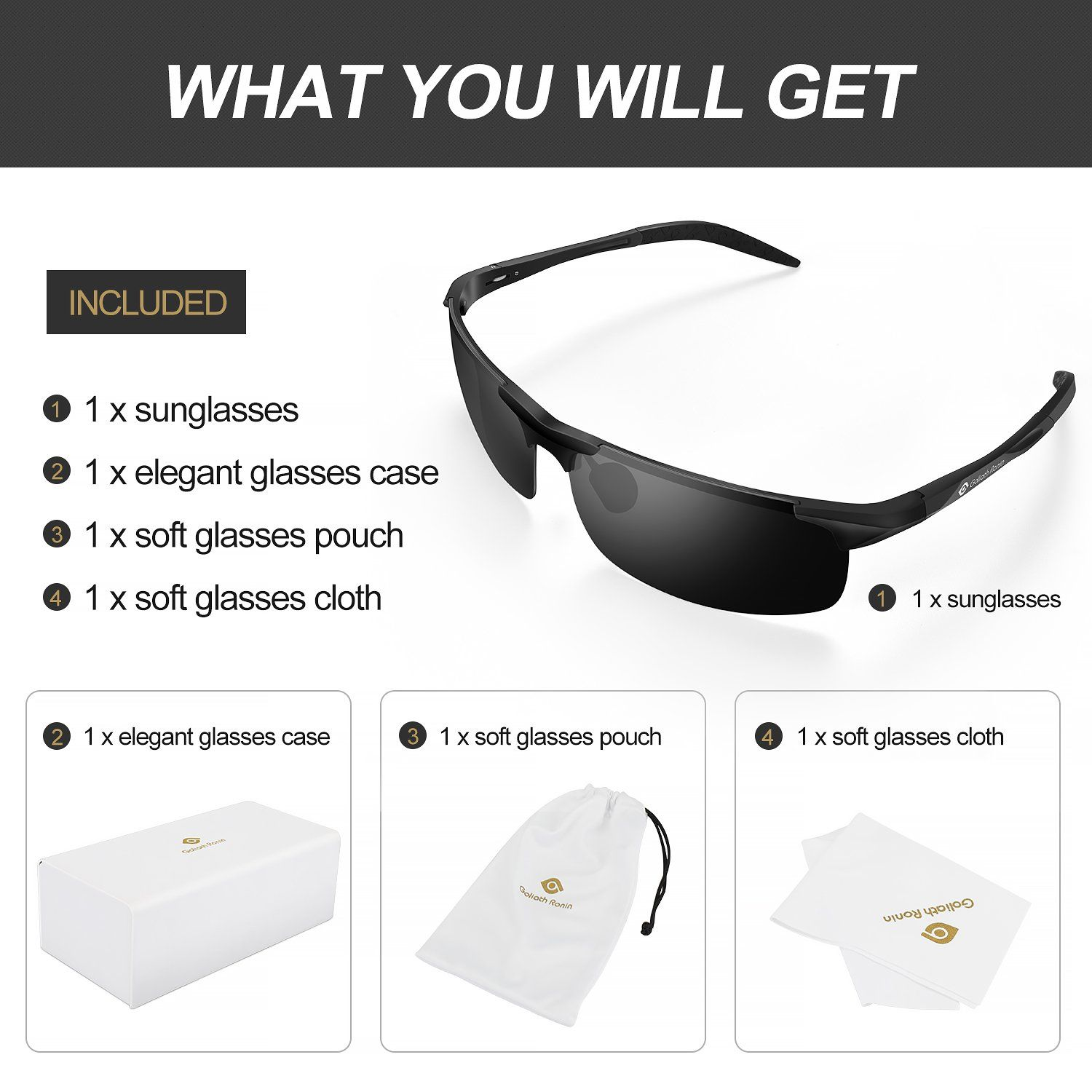 baf2fcd14b Goliath Ronin Polarized Sports Fashion Sunglasses for Driving Cycling  Fishing Golf Outdoor Activities     You can get more details by clicking on  the image.