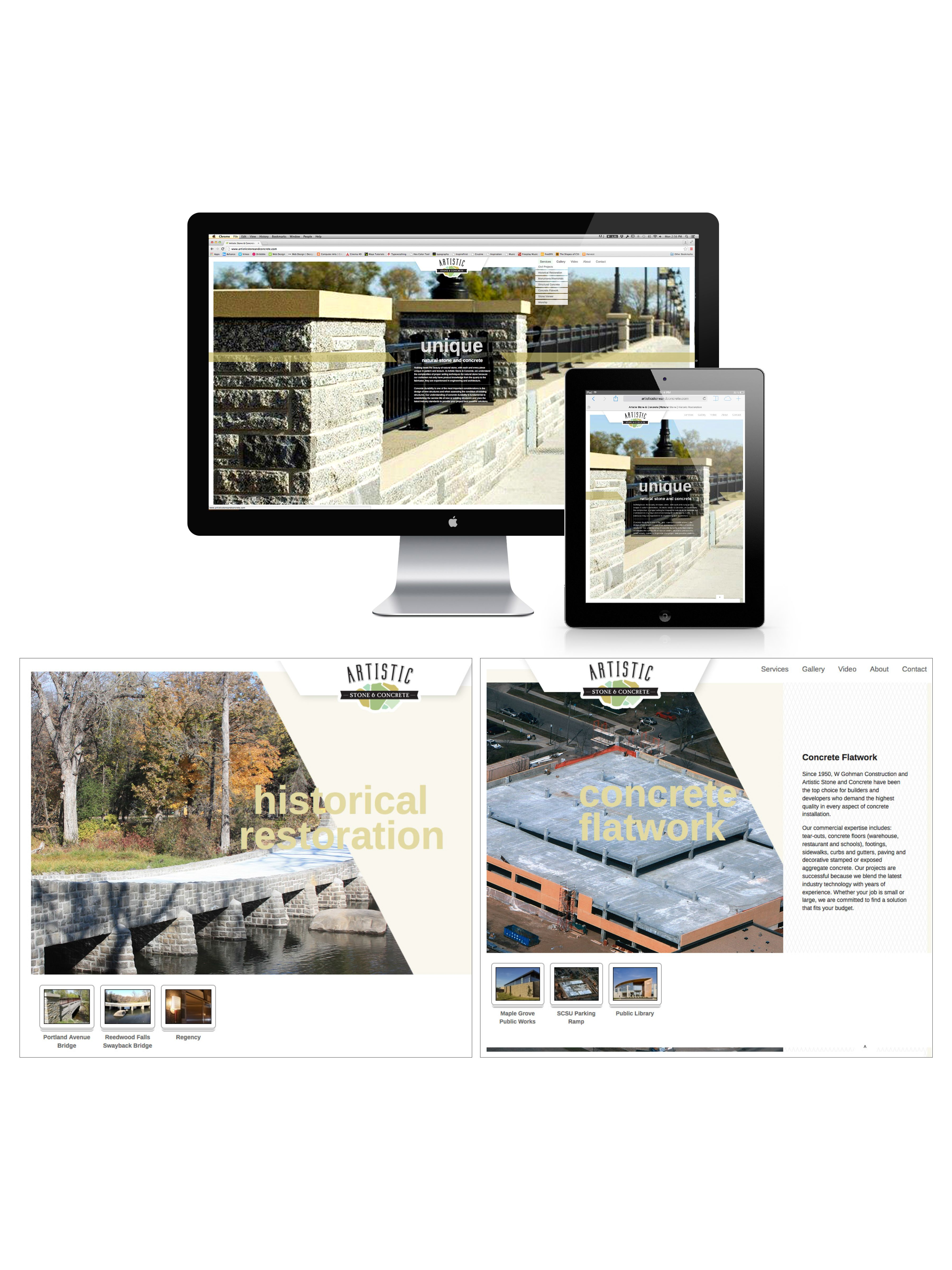 Artistic Stone Website Website Design Design Creative