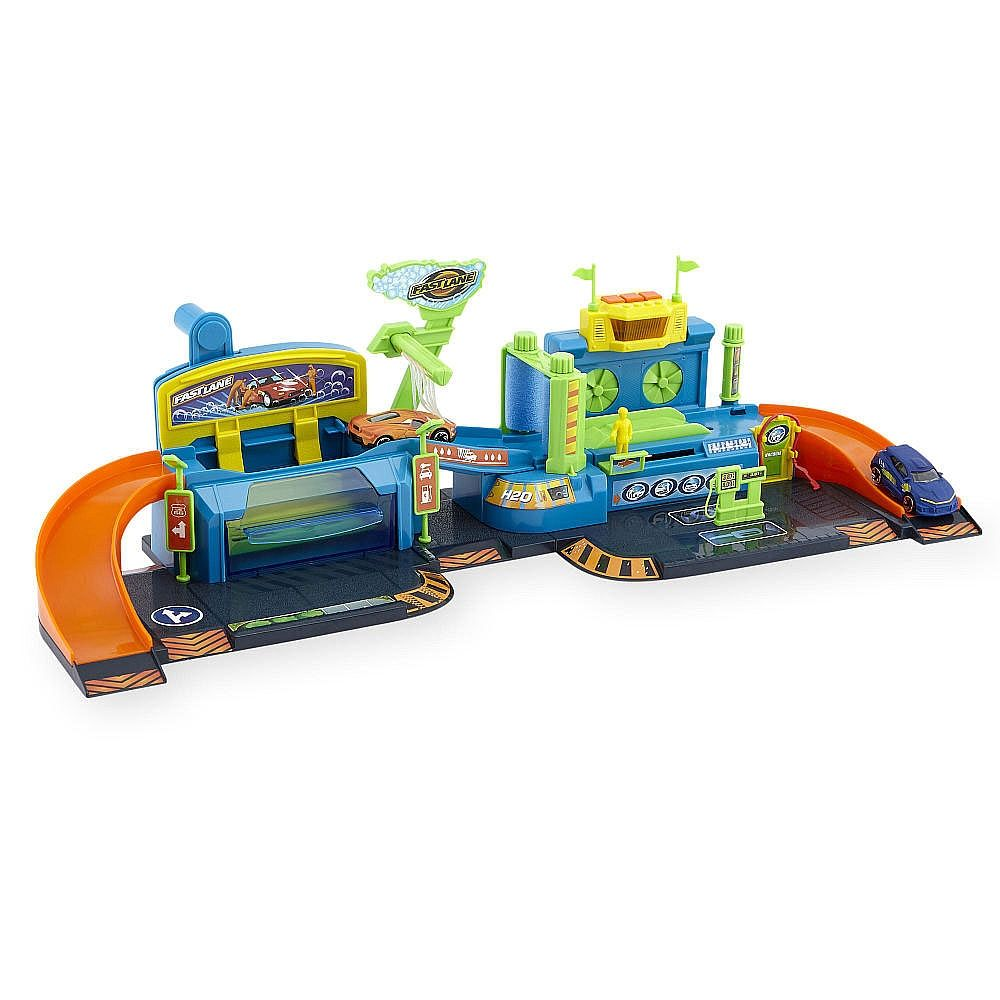 Get To Work With The Fast Lane Color Changing Car Wash Playset Only At Toys R Us Kids Will Love Driving The Color Changing Cars Through The C Toys Car Wash
